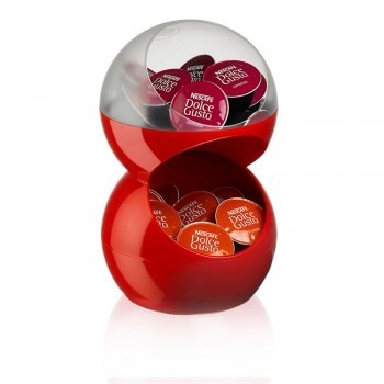 Bubble Capsule Holder - Red