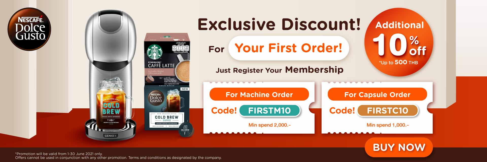 Discount for First-time purchase